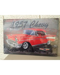 "1957 Chevy Bel Air Sign ""One Nice Ride"" New DL"