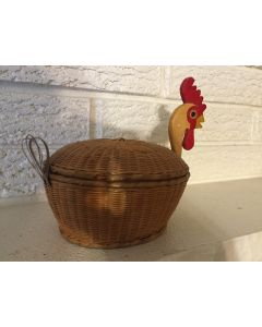 Cute Little Antique Vintage Chicken Weave Basket 1950's Vintage