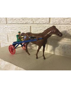 "Antique Wolverine Sulky Racer No.23 ""Horse Actually Pulls Sulky"" nr Mint Wind Up Toy DL"