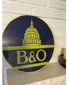 Baltimore and Ohio Capital Logo Round Aluminum Sign New DL