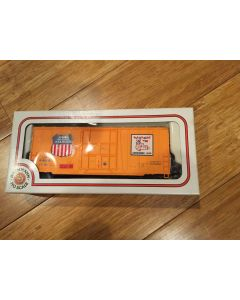 "Model Bachmann HO-Scale Item # 76036 41' Hi-Cube Boxcar Smooth Sides. Union Pacific. ""Union Pacific Automated rail way cushioned load"""