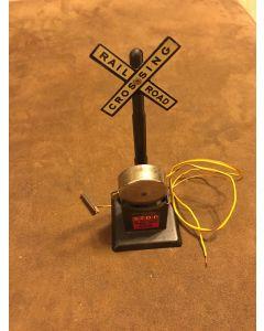 VINTAGE Marx METAL MODEL TRAIN RAIL ROAD CROSSING BELL MAR LINES MADE IN USA