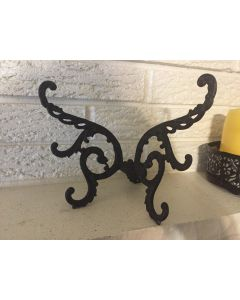 Primitive Antique Cast Iron Butterfly Bracket Or Ornament