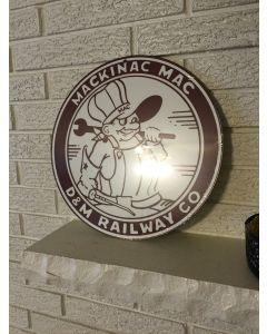 Detroit & Mackinaw Logo Round Aluminum Sign New DL