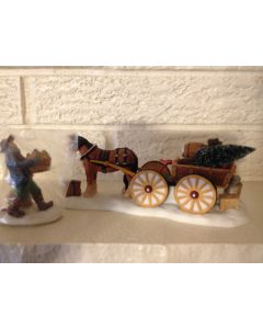 DEPT 56 LOAD UP THE WAGON #56630 NEW ENGLAND VILLAGE / RETIRED Mint  Christmas
