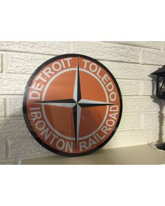 "DT&I 14"" Round Logo Railroad Sign Detroit Toledo & Ironton DL"
