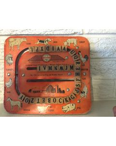 RICHMOND SCHOOL FURNITURE CO. NO. Y32 JUNIOR SPELLING AND NUMBER BOARD VERY RARE 1948