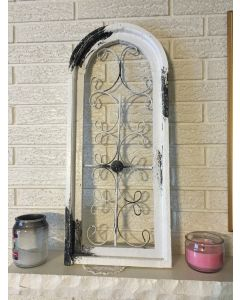 Stylized and Antiqued Gothic Window decoration