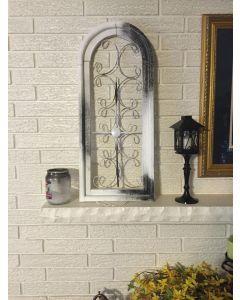 Stylized and Antiqued Gothic Window decoration