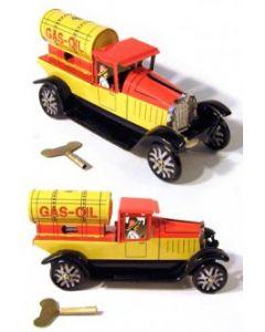 Gas Oil Tanker Truck Tin Toy  New Wind up Clockwork Mechanism DL