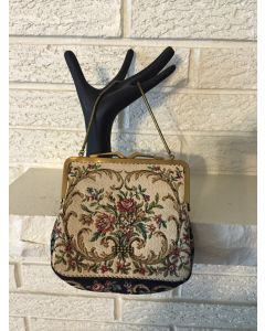 Beautiful Antique German Hand Bag Clutch. Imported by HUDSON's DETROIT. 6x6 Embroidered