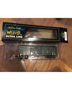 "Weaver Grand Trunk Western""Through Baggage"" 40' Steel Side Double Door Box Car  O Ga. 3-Rail 0-31 Curves U20013LD"