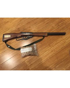 Vintage Toy Cork Gun Western Wood Stock Rifle- Replicas by Parris w/  2 bags of Corks