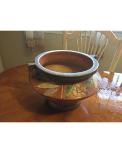 ***Sorry Sold***Beautiful Roseville Pottery MINT C1928 FUTURA Tan Jardiniere 616-7 Art-Deco DL