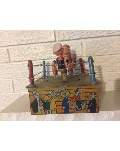 MARX POPEYE THE CHAMP wind up tin litho vintage toy WORKS