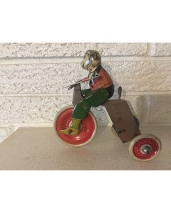 Scarce Marx Monkey Mechanical Tin lithograph Cyclist Wind Up Circa 1933 Rare