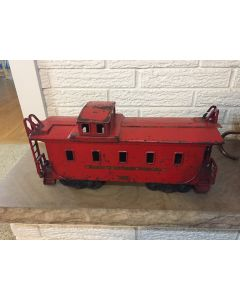 1930's Buddy-L Pressed Steel Caboose for Outdoor Toy Train Set. Good original condition. 19 inches long. Buddy-L #3017