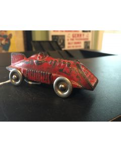 HUBLEY CAST IRON TOY RACE CAR with METAL WHEELS