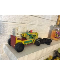 MARX #5 SPARKLING CLIMBING TRACTOR w DRIVER TIN WIND-UP TOY With BOX DL