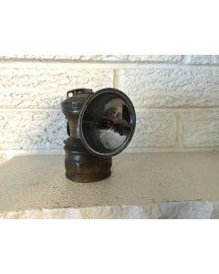 Antique Vintage Auto-Lite Carbide Miners Cap Helmet Lamp Light Lantern