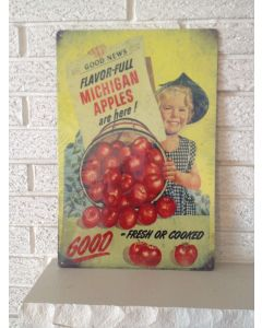 "Good News Flavor-ful Michigan Apples are Here ""Good Fresh or Cooked"" Sign New DL"