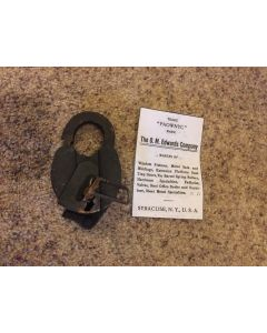 Early Antique DM&J Railway  O.M. Edwards Co Trade Mark PAOWNYC Brass Lever padlock. Comes with working brass key