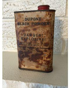 Antique Vintage Dupont Black Powder Empty Tin