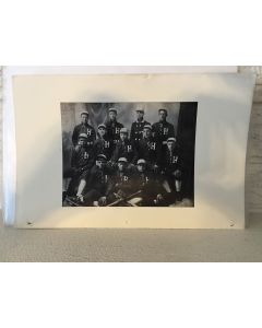 """Baseball Team Picture """"H"""" Turn of the Century 6 5/8"""" x 10.25"""""""