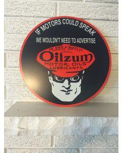 "Oilzum Sign ""If Motors Could Speak"" White & Bagley Worcester Massachussetts DL"