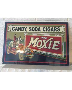 "Large ""Candy Soda Cigars"" ""Drink Moxie"" New Aluminum 16""x 24"" Bar/Den/Garage Sign DL"
