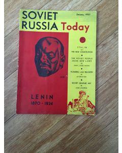 Soviet Russia Today Magazine Lenin 1870-1924 January 1937 pp34 Vol 5  No.11
