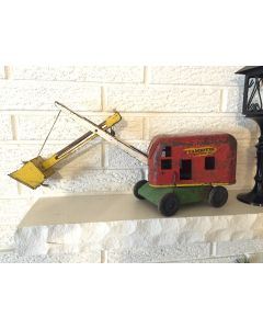 Vintage Pressed Steel Large Toy Steam Shovel Wyandotte Construction , 40's ?
