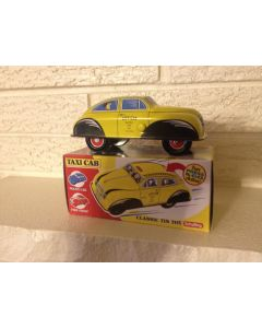 """Schylling """"Collectors Series"""" """"Press Down and off it Goes"""" Taxicab"""" Tin Toy New DL"""