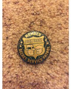 Dick Tracy Secret Service Patrol 1938  Member Pinback Button Radio Pemium