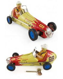 Champions Racer 98 Large Indy Tin Toy  Automobile Wind Up Engine  Indy Race Car DL
